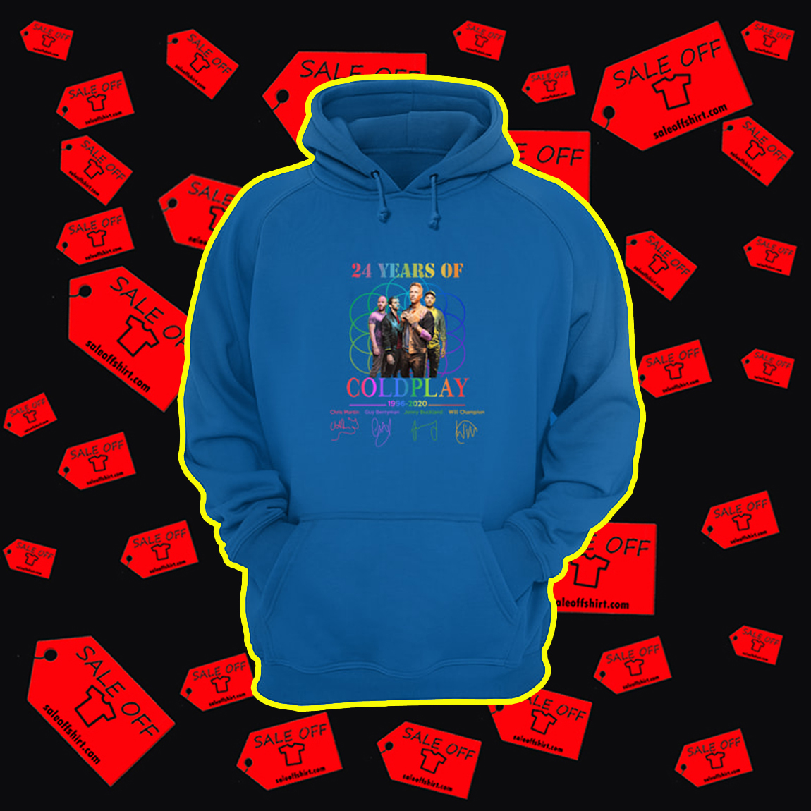 24 Years Of Coldplay 1996 2020 hoodie
