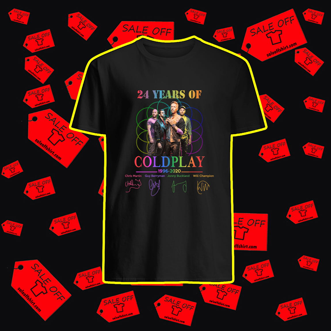 24 Years Of Coldplay 1996 2020 shirt