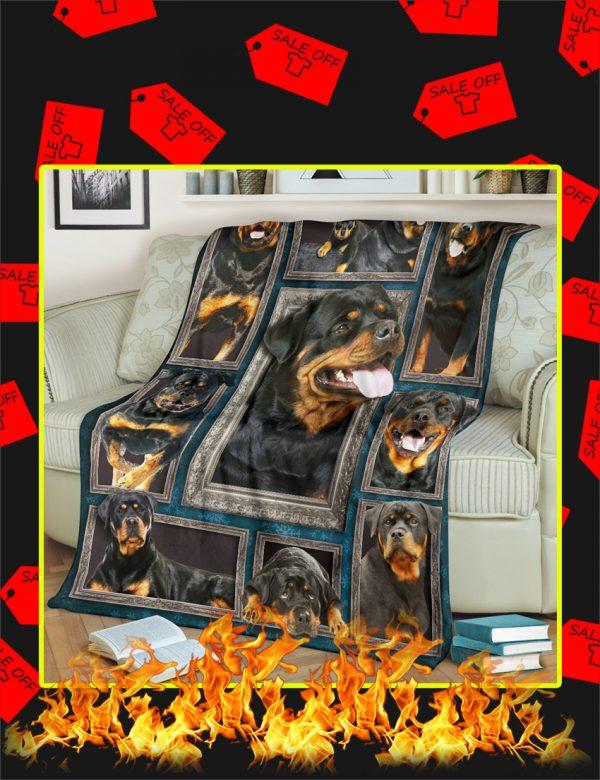 3d Rottweiler Blanket