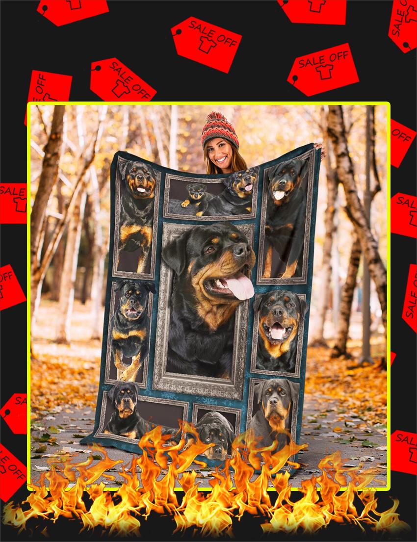 3d Rottweiler Blanket-Large