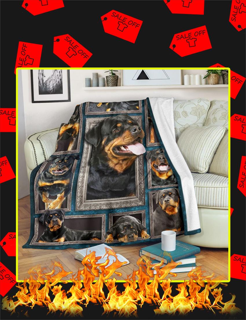 3d Rottweiler Blanket-X Large