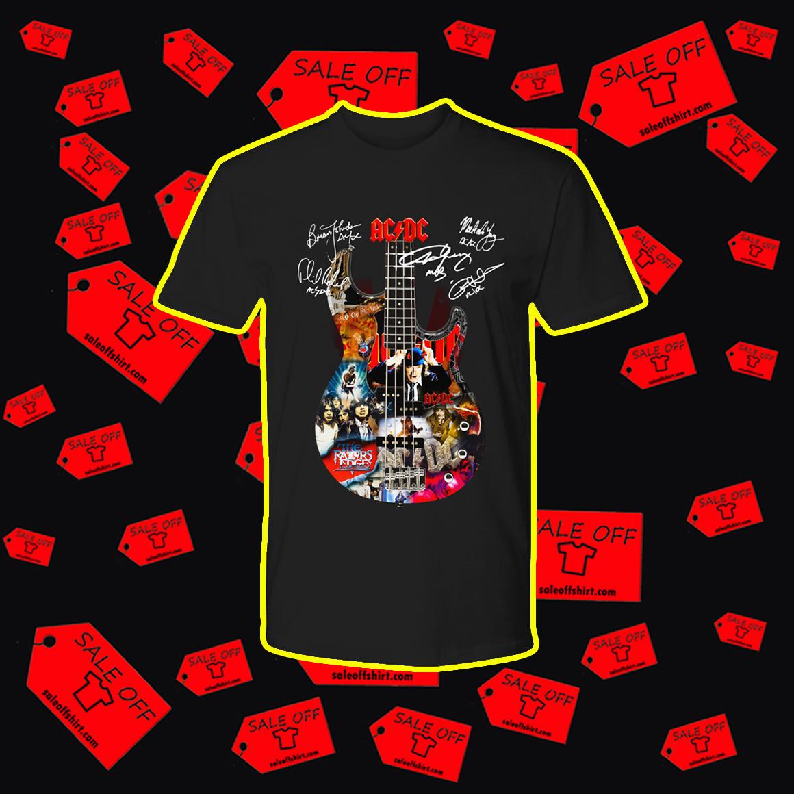 ACDC Guitar Member Signatures shirt