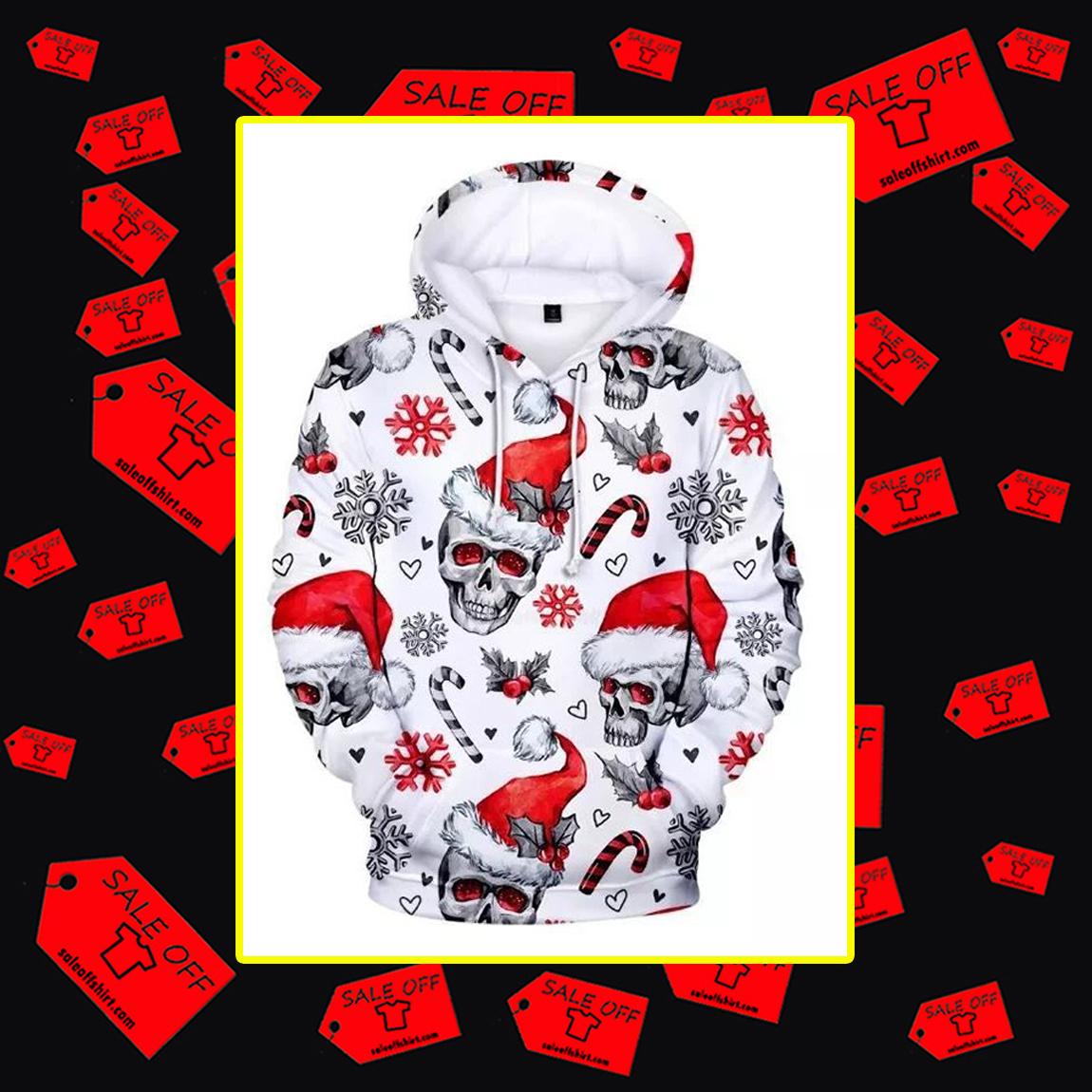 Christmas Skull 3d Hoodie