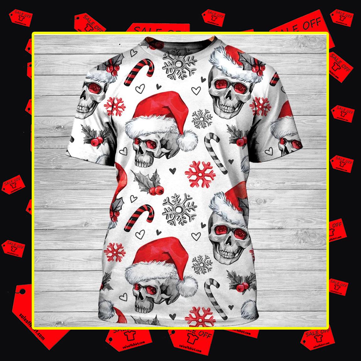 Christmas Skull 3d T-shirt