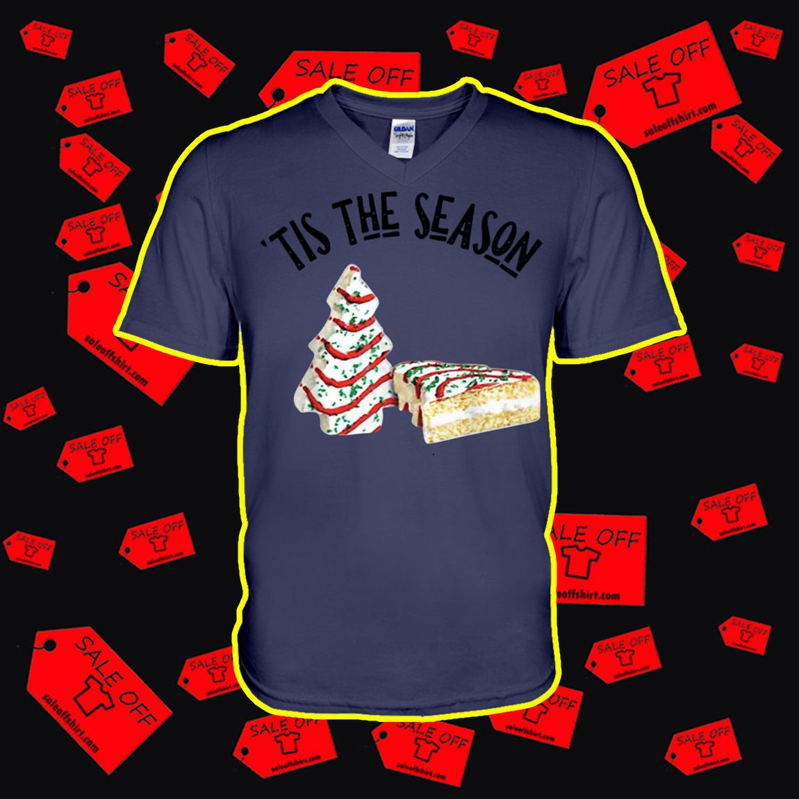 Christmas Tree Cakes Tis The Season v-neck