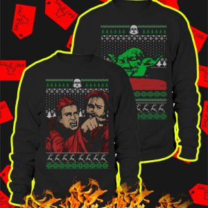 Couple Angry Anakin Yelling At Yoda Ugly Christmas Sweater