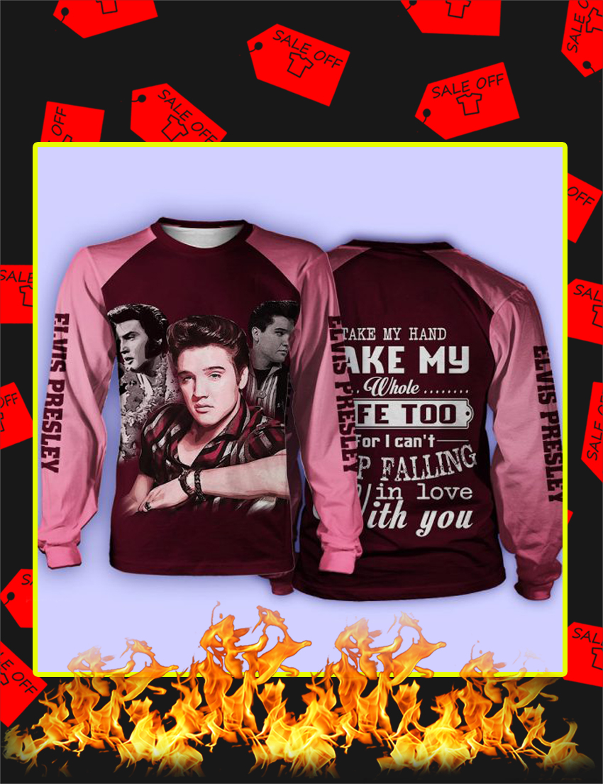 Elvis Presley Take My Hand 3d Long Sleeved-Shirt