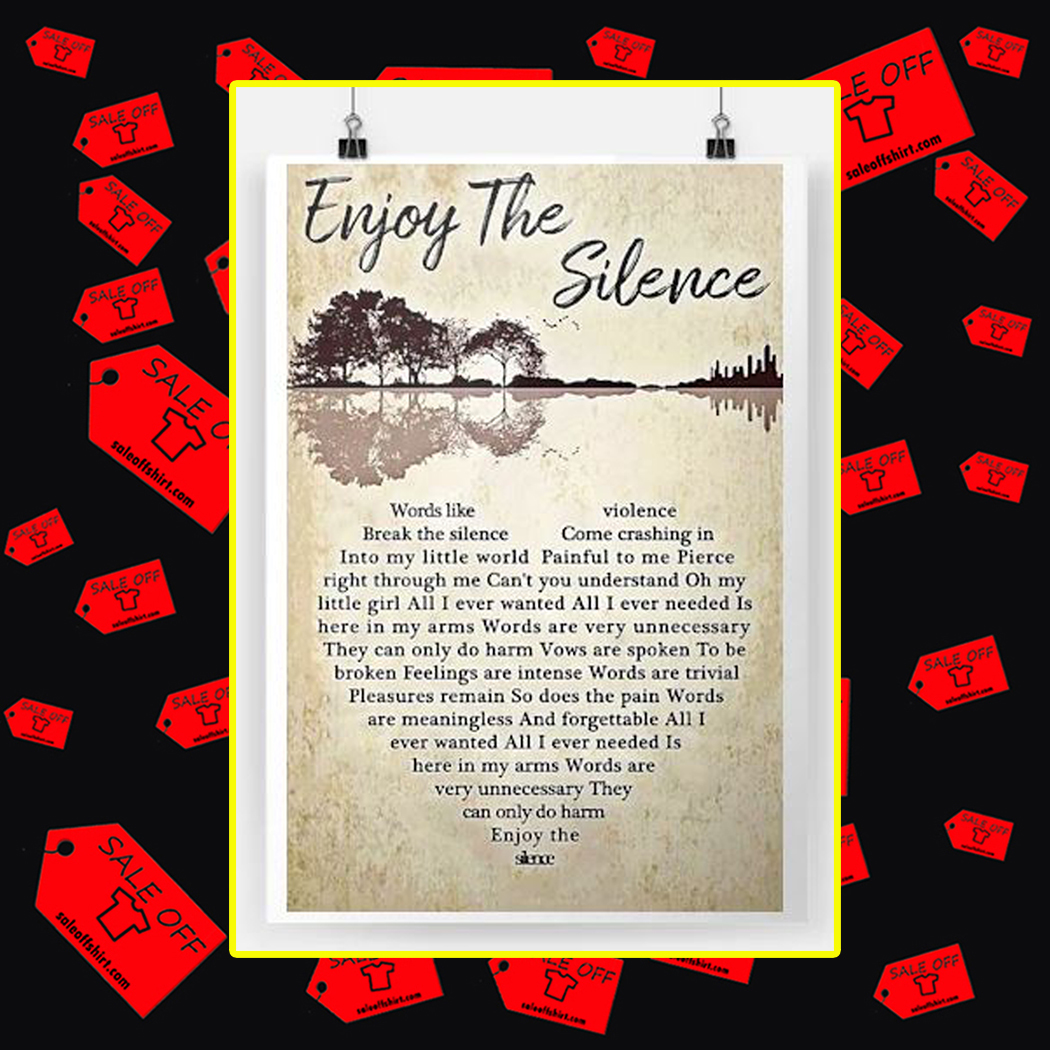 Enjoy The Silence Poster-A4