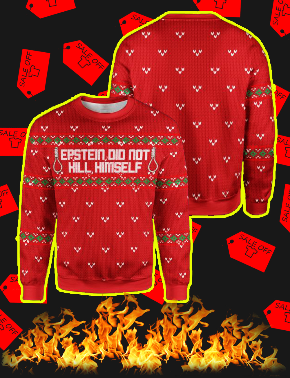 Where to buy Epstein Didn\u0027t Kill Himself Ugly Christmas Sweater