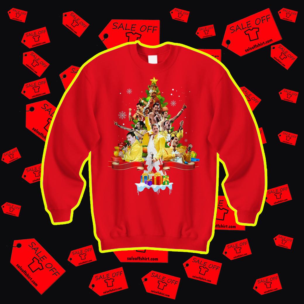 Freddie Mercury Christmas Tree sweatshirt