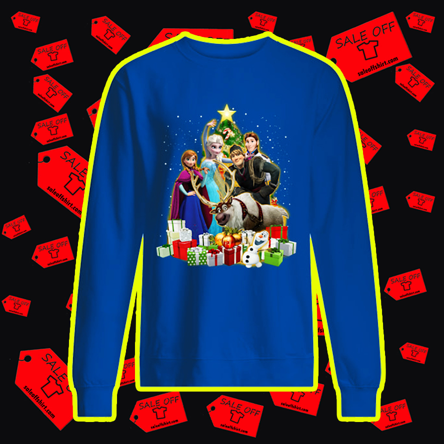 Frozen Characters Christmas Tree sweatshirt