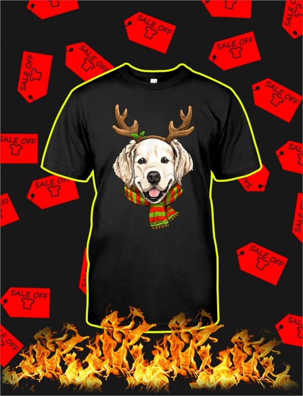Golden Retriever Reindeer Christmas shirt
