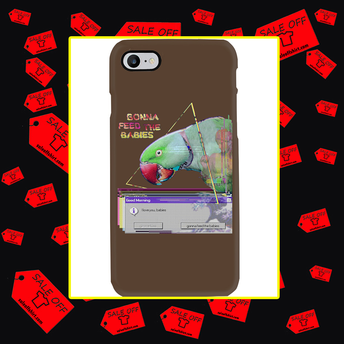 Gonna Feed The Babies Parrot Phone Case- iphone 8