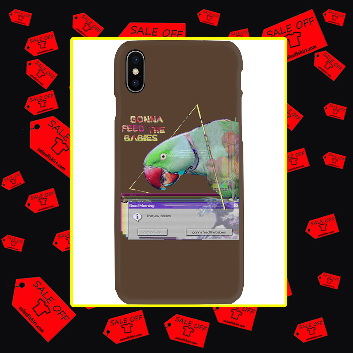 Gonna Feed The Babies Parrot Phone Case- iphone X