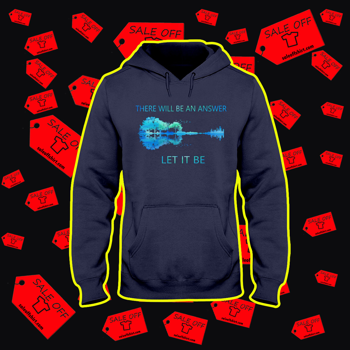 Guitar Reflection There Will Be An Answer Let It Be hoodie