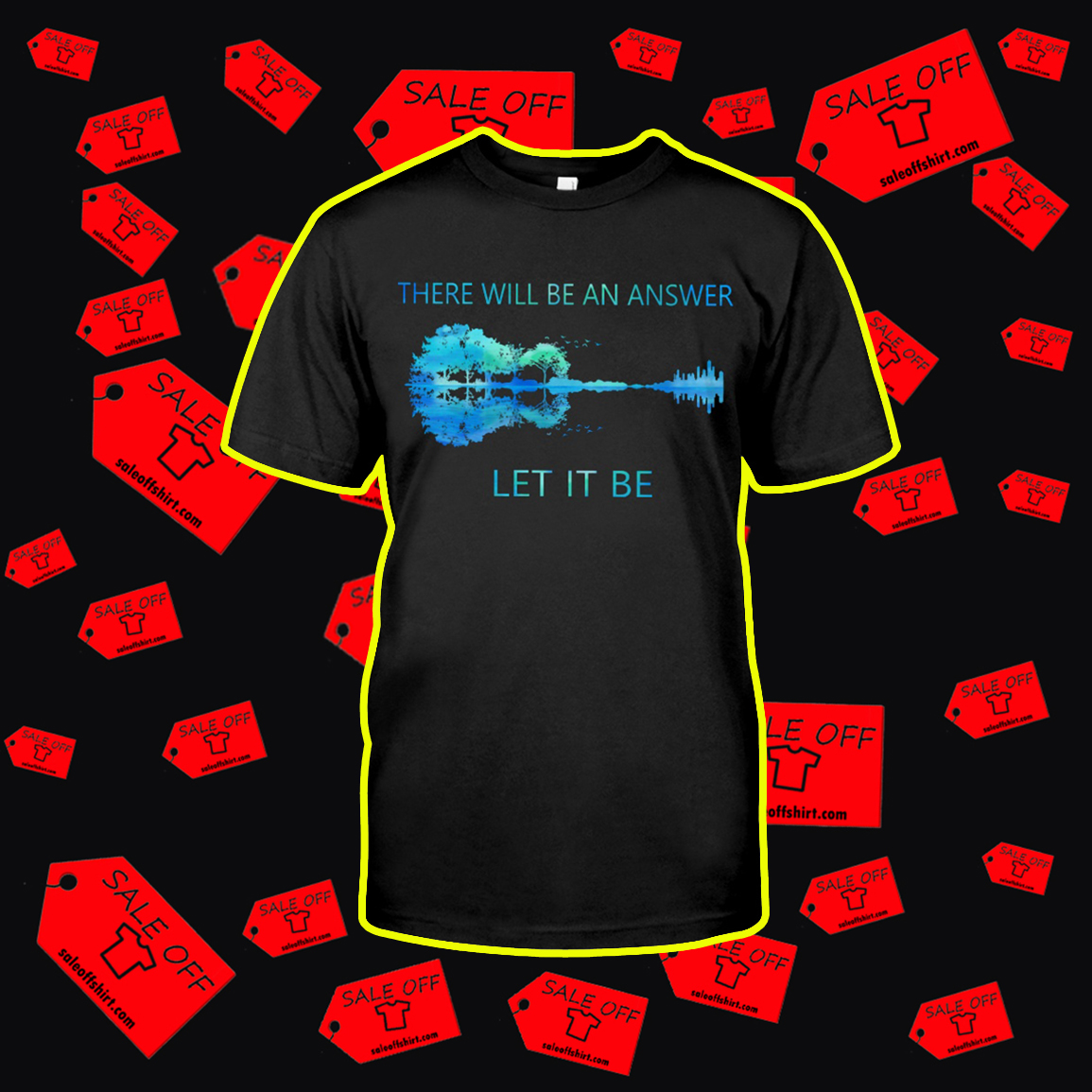 Guitar Reflection There Will Be An Answer Let It Be shirt