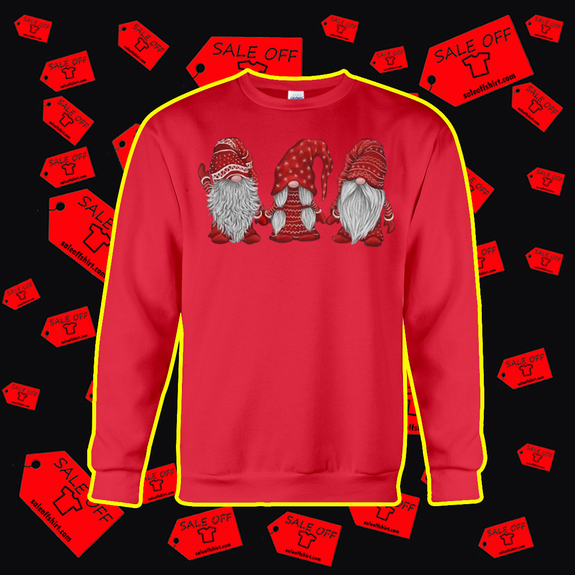 Hanging With Red Gnomies Sweatshirt- red