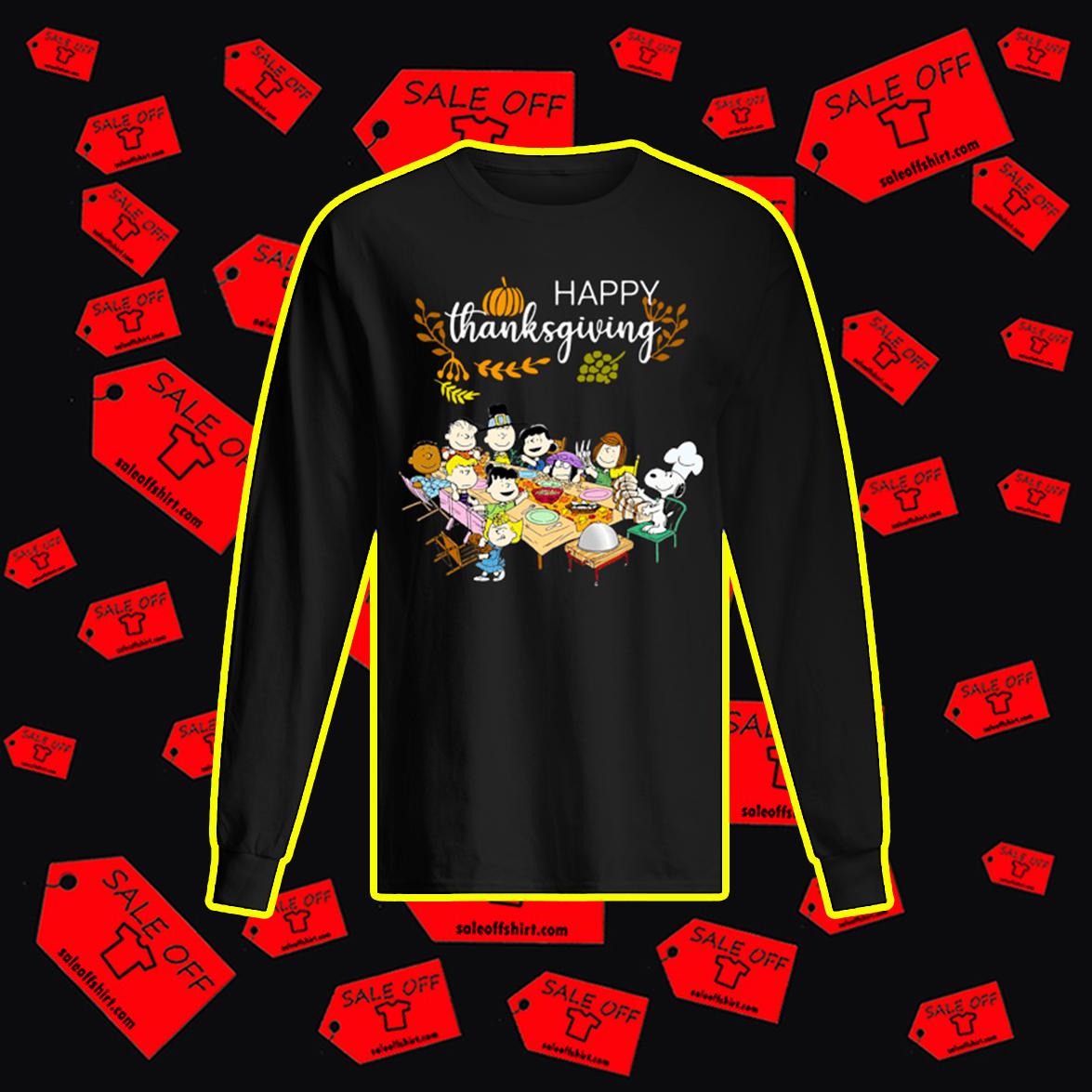 Happy Thanksgiving Peanuts longsleeve tee