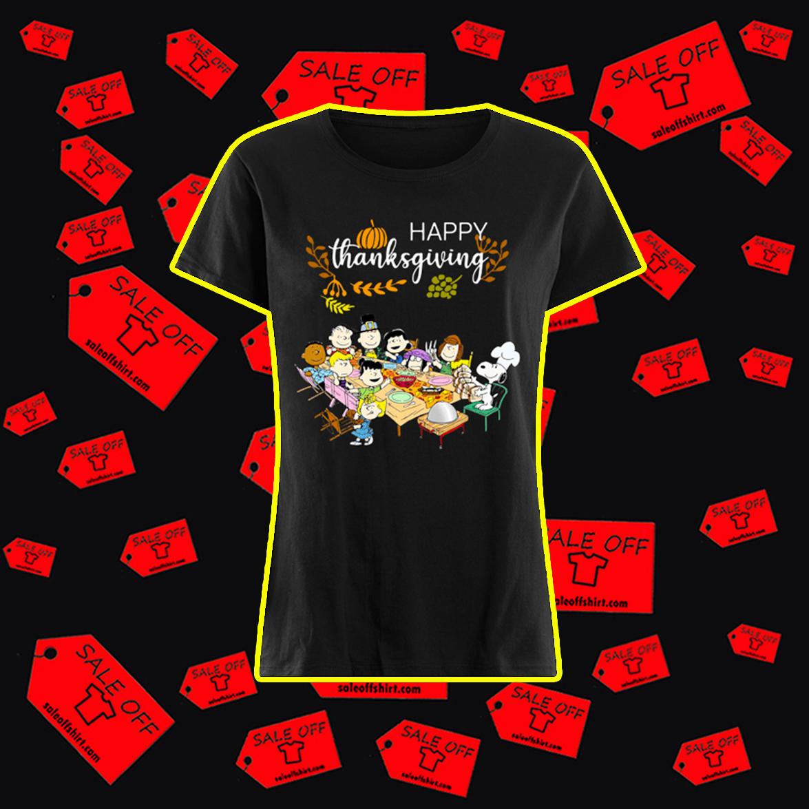 Happy Thanksgiving Peanuts shirt