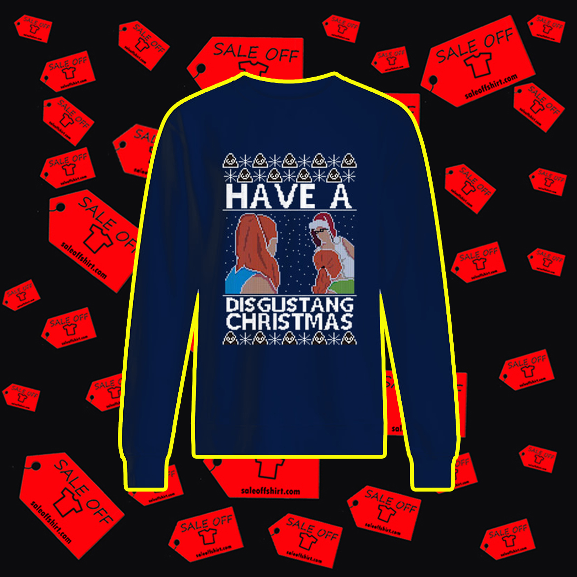Have a disgustang christmas ugly sweater- navy