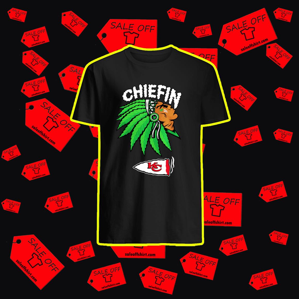 Kansas City Chiefs Chiefin Native Smoking shirt