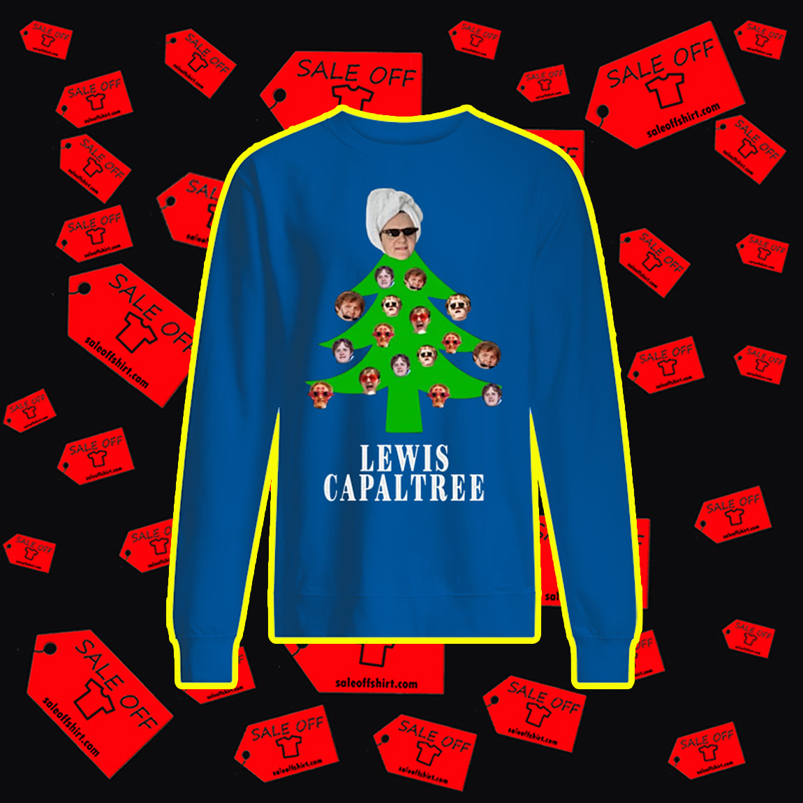 Lewis Capaltree Christmas Jumper- blue