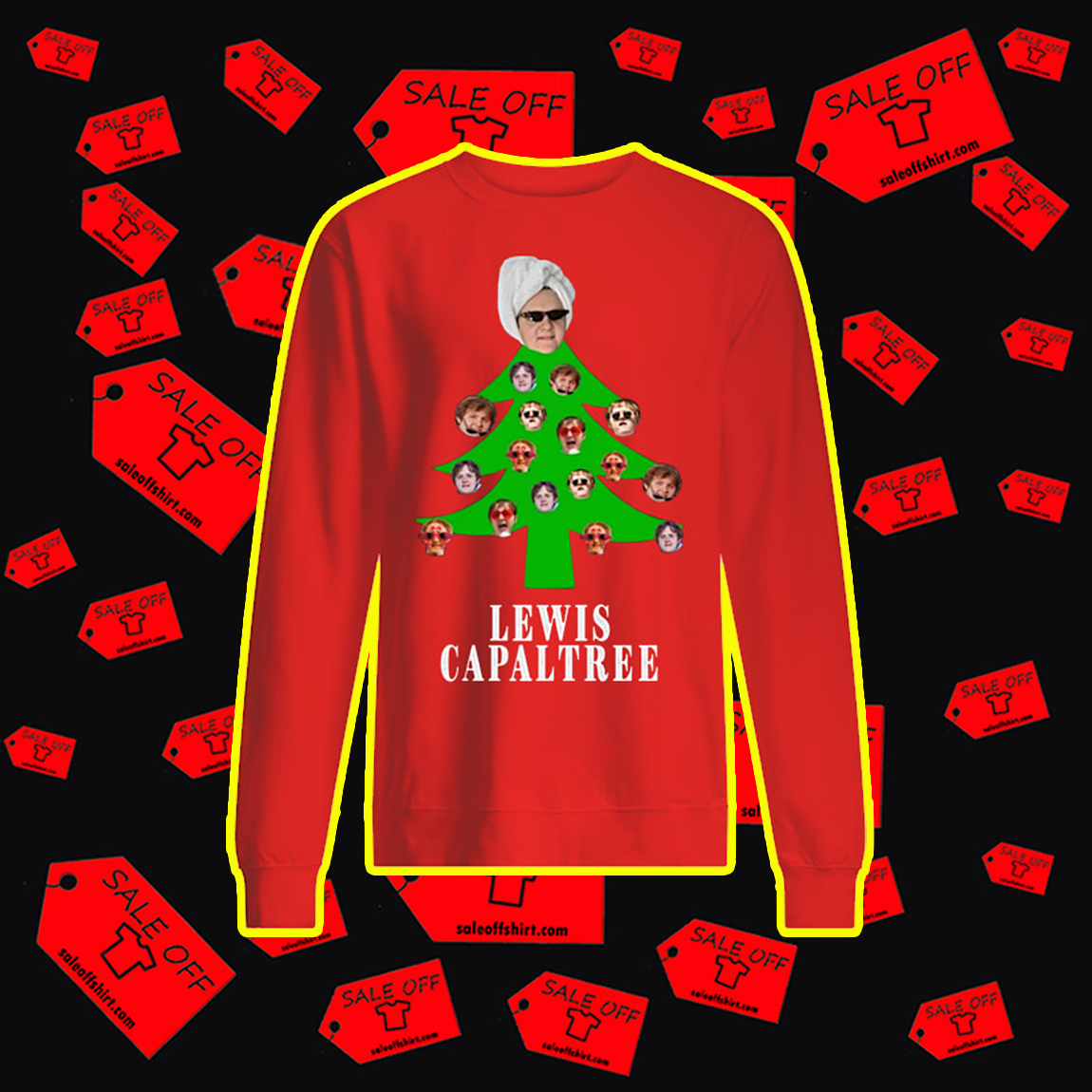Lewis Capaltree Christmas Jumper- red