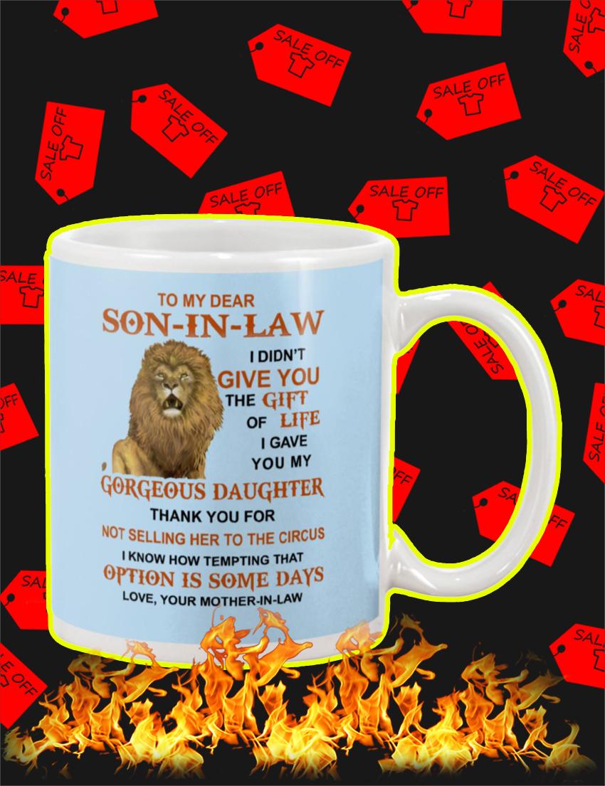 Lion To My Dear Son-In-Law Mug-light blue