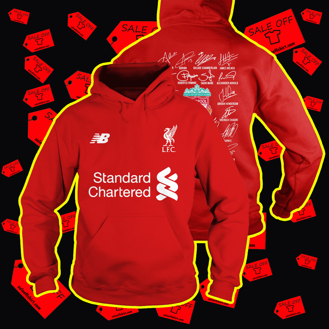 Liverpool Players Names Signature Hoodie