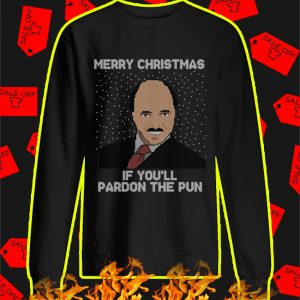 Merry Christmas If You'll Pardon The Pun Ugly Christmas Sweater