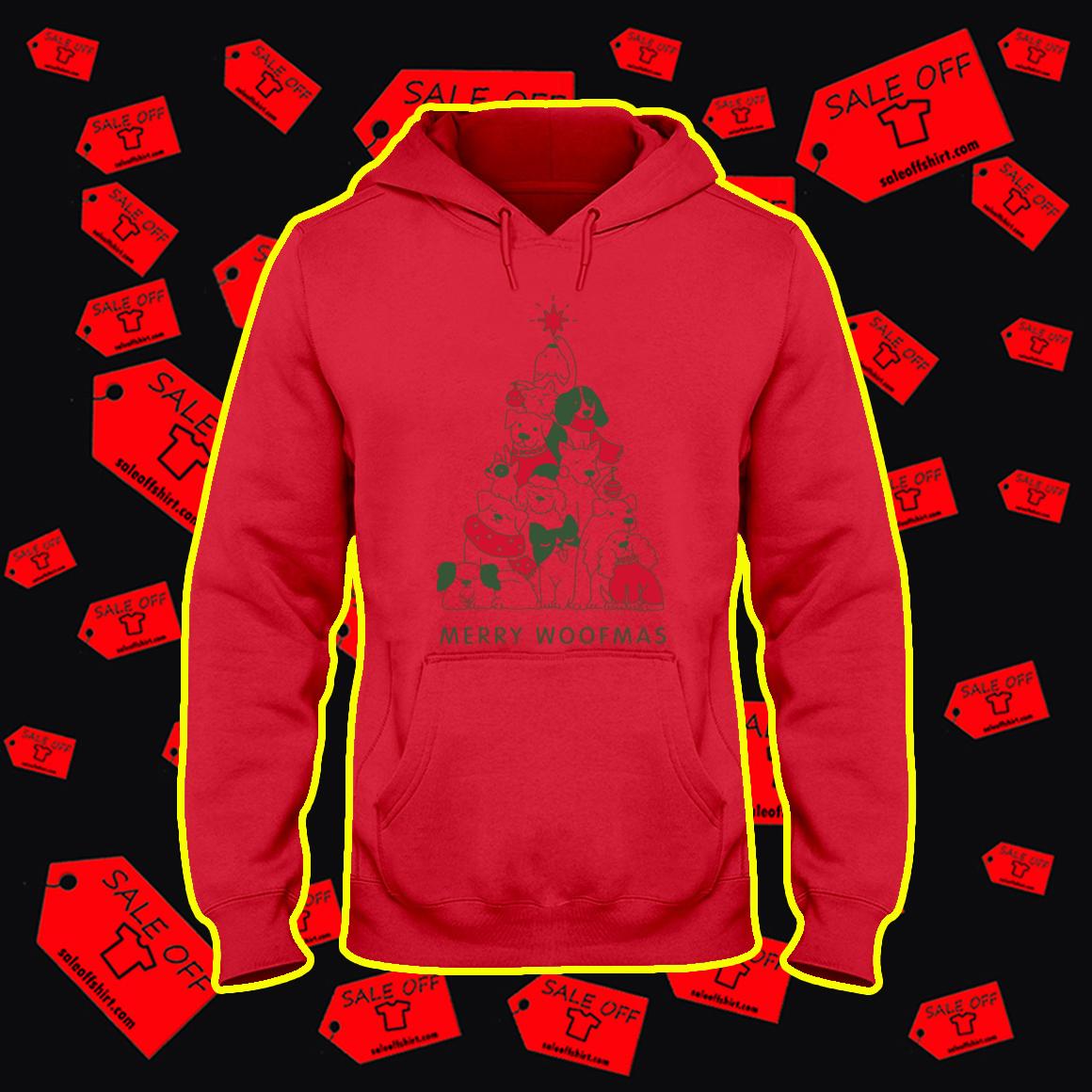 Merry Woofmas Christmas Tree hoodie