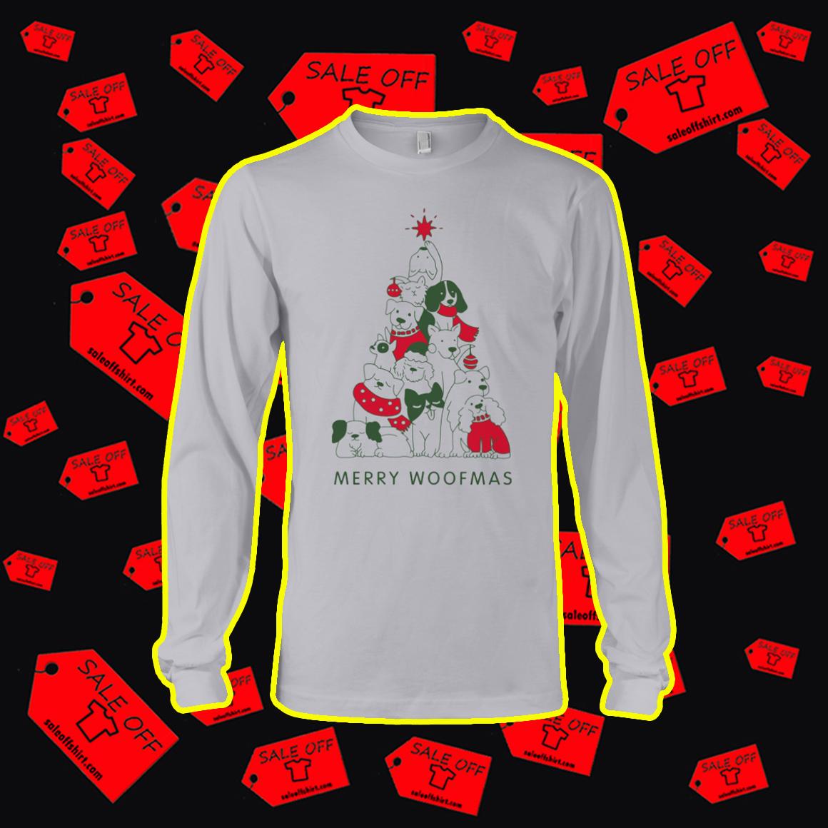 Merry Woofmas Christmas Tree longsleeve tee