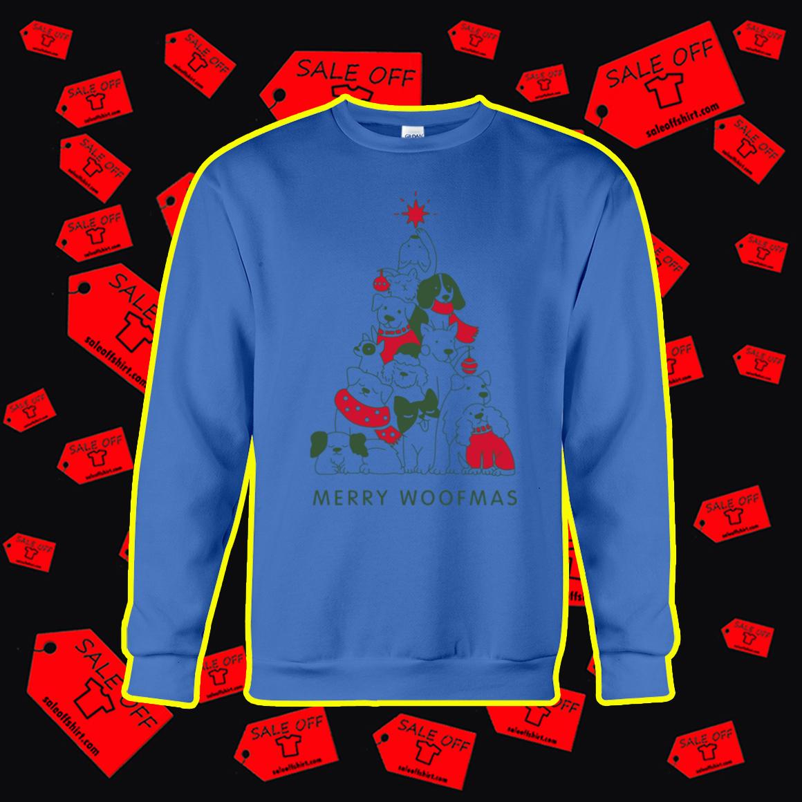 Merry Woofmas Christmas Tree sweatshirt