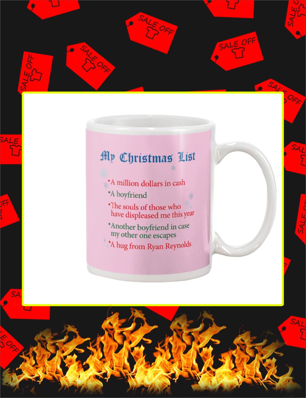 My Christmas List Mug- classic pink