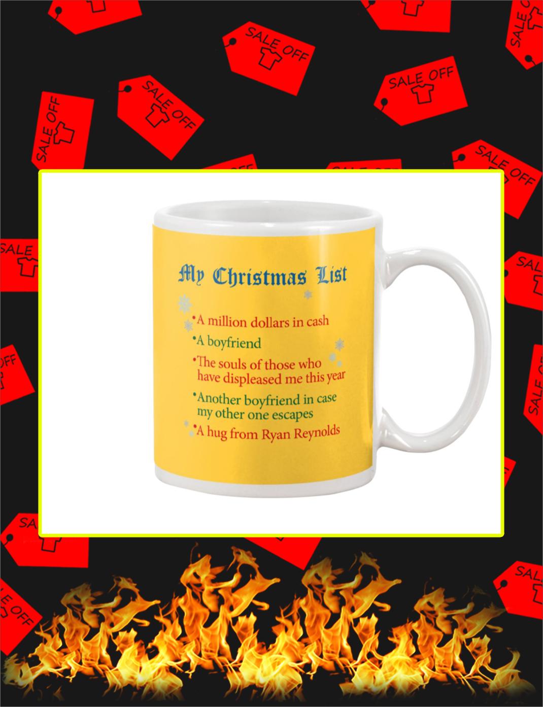 My Christmas List Mug- gold