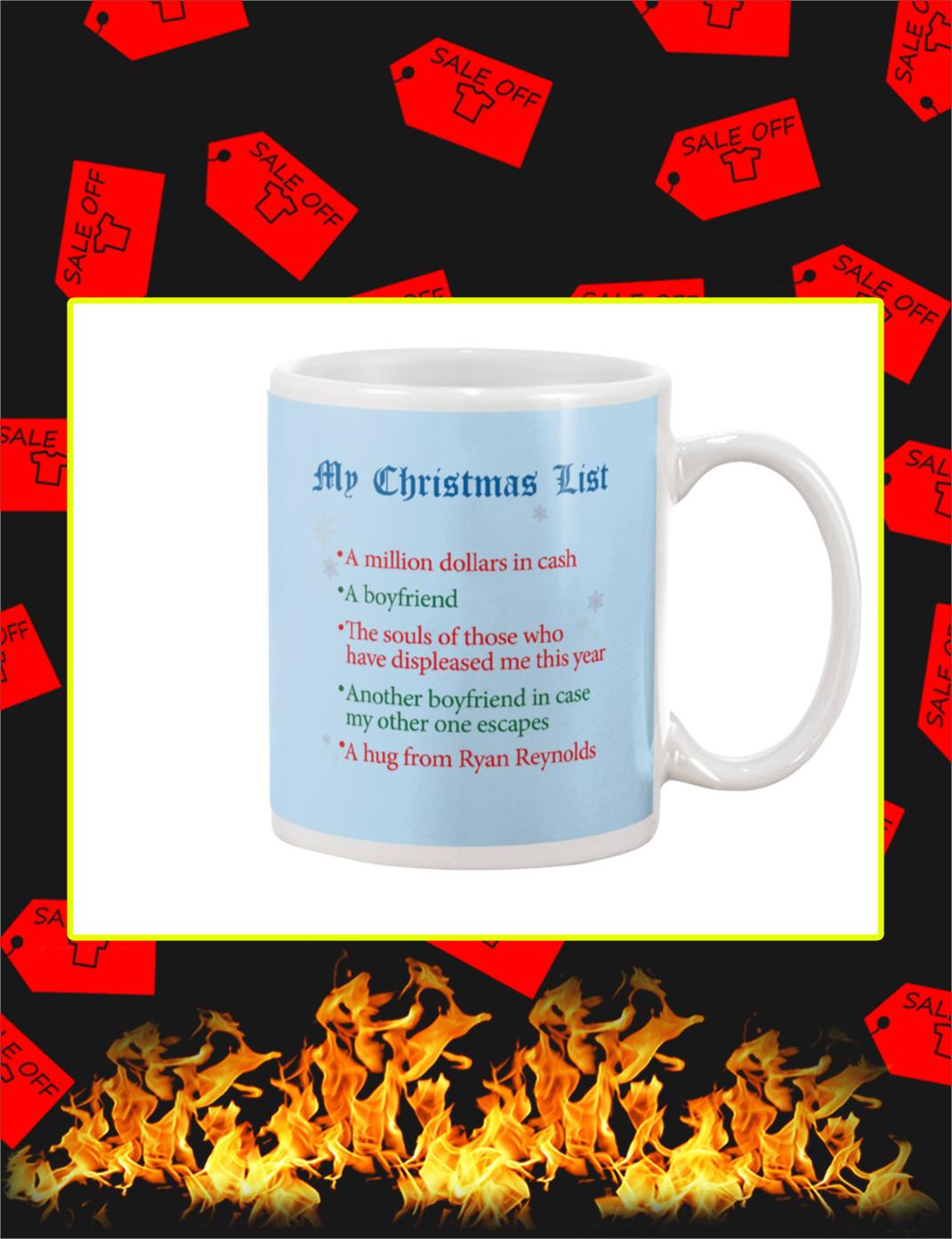 My Christmas List Mug- light blue