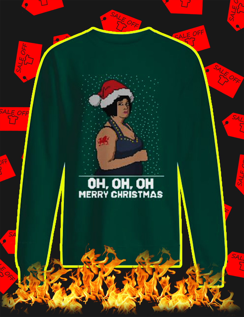 Nessa Oh Oh Oh Merry Christmas Jumper - green