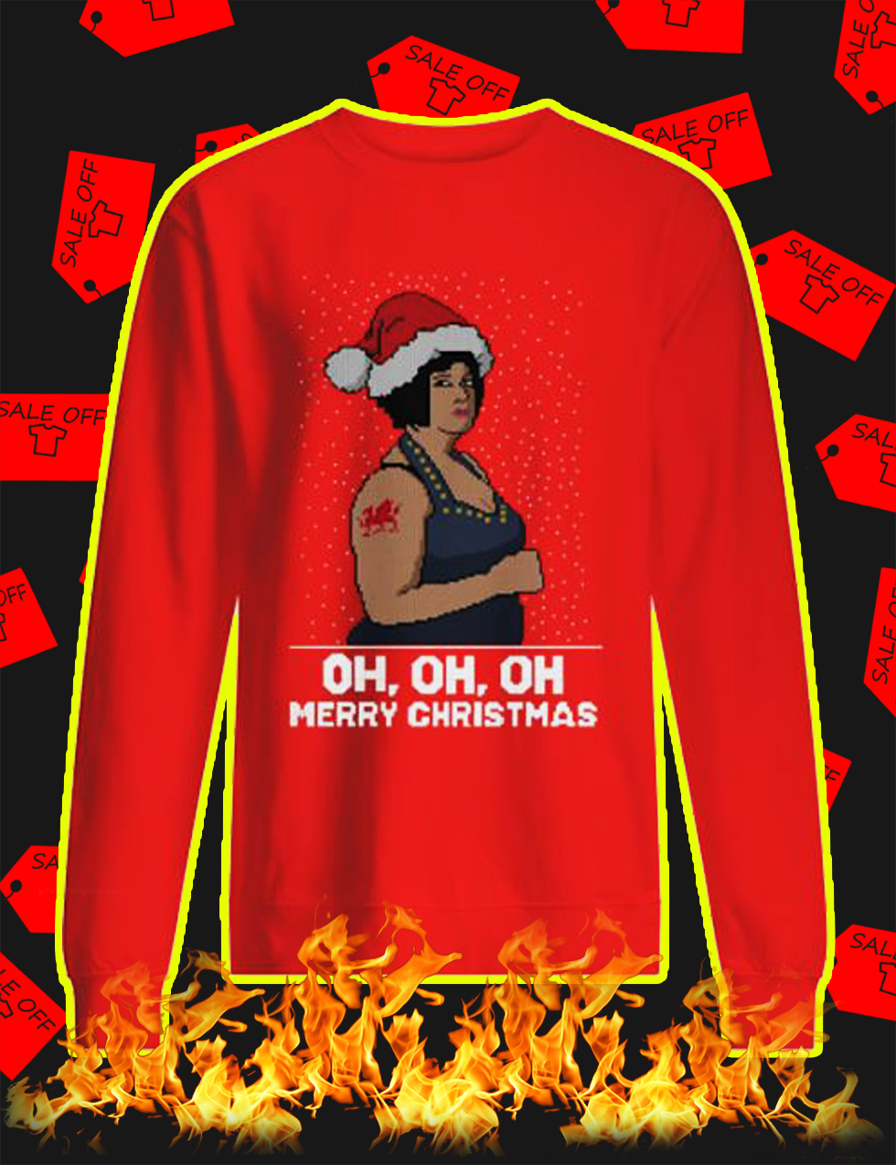 Nessa Oh Oh Oh Merry Christmas Jumper - red
