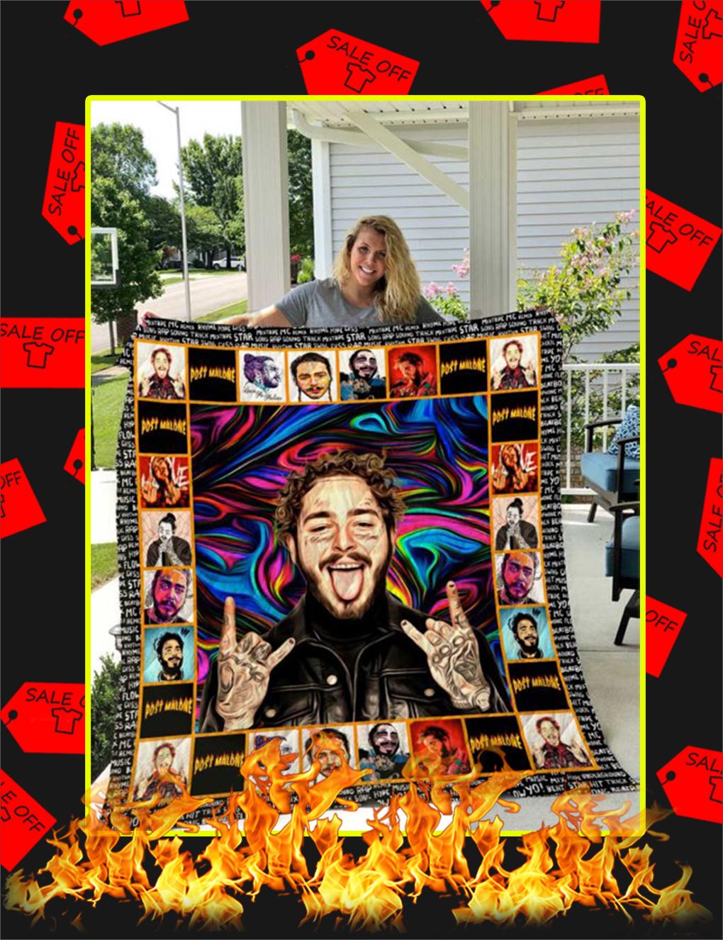 Post Malone Quilt Blanket - Super King