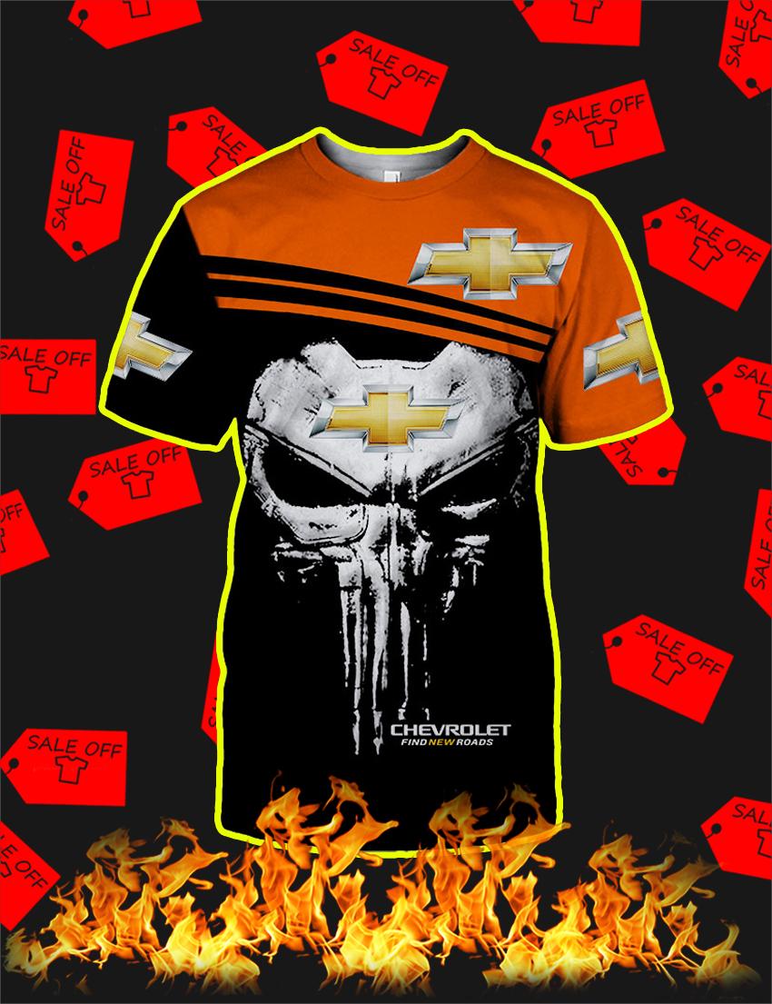 Punisher Skull Chevrolet 3d T-shirt