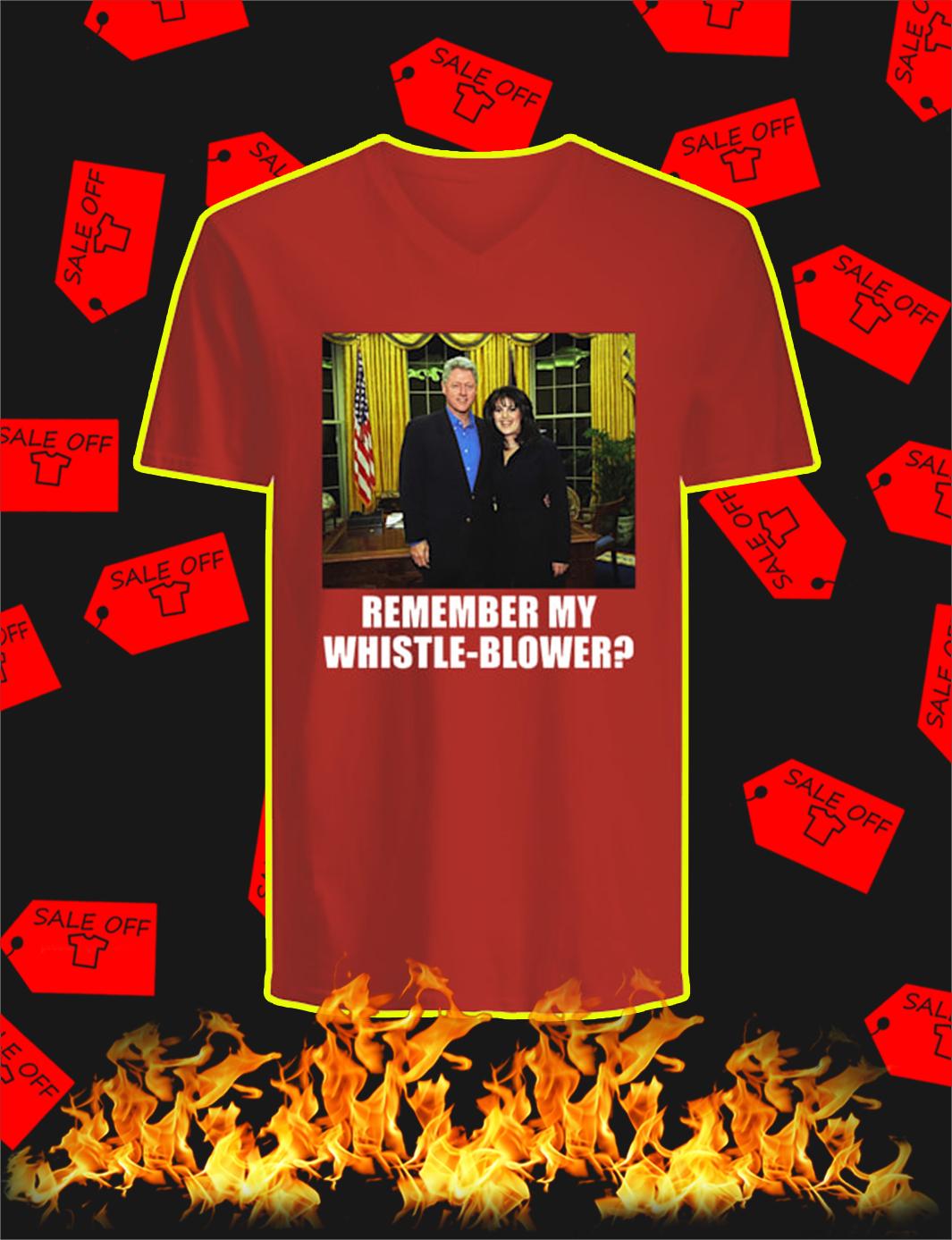 Remember My Whistle-Blower v-neck