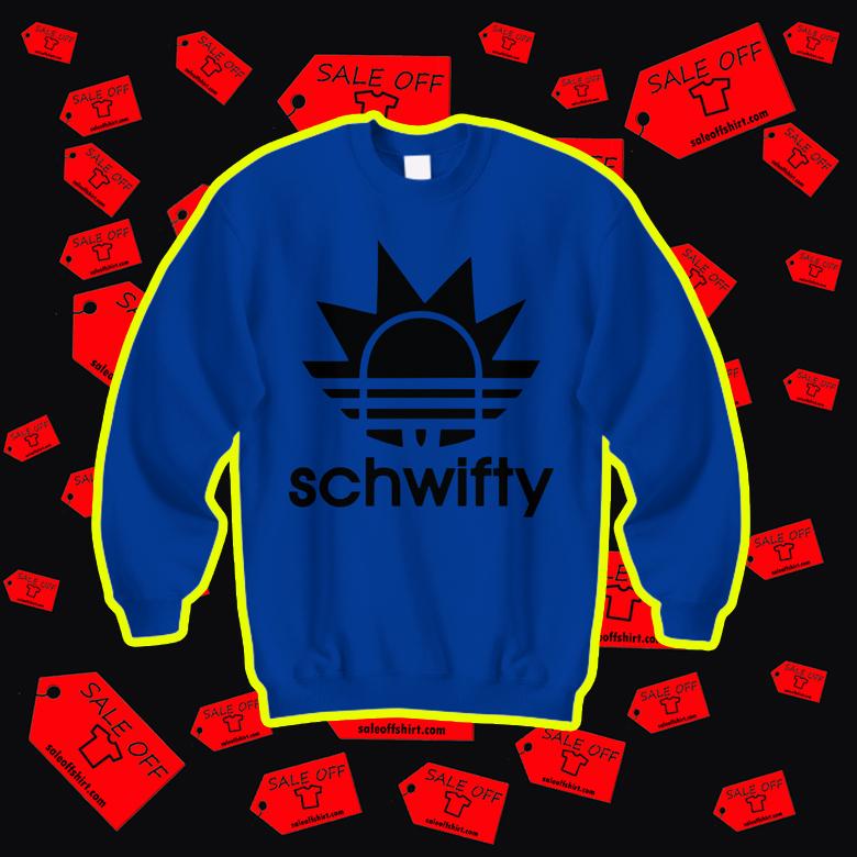 Schwifty Rick Adidas sweatshirt