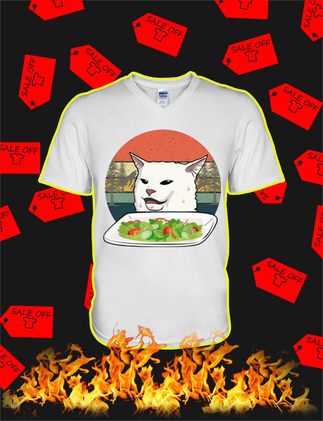 Smudge the Cat Meme Vintage v-neck