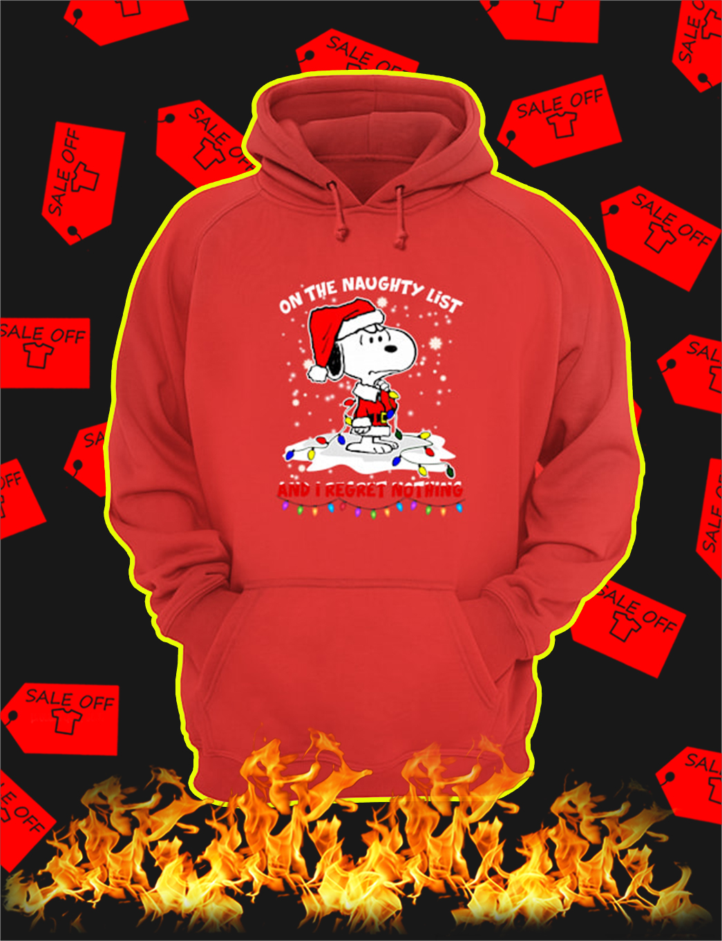 Snoopy On The Naughty List And I Regret Nothing Christmas hoodie