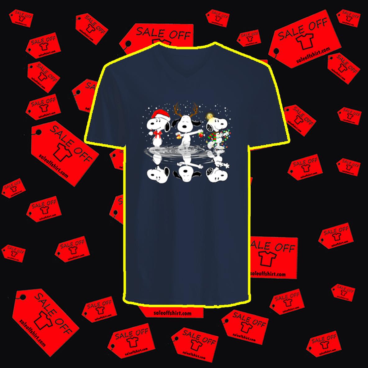 Snoopy Reflection Christmas v-neck