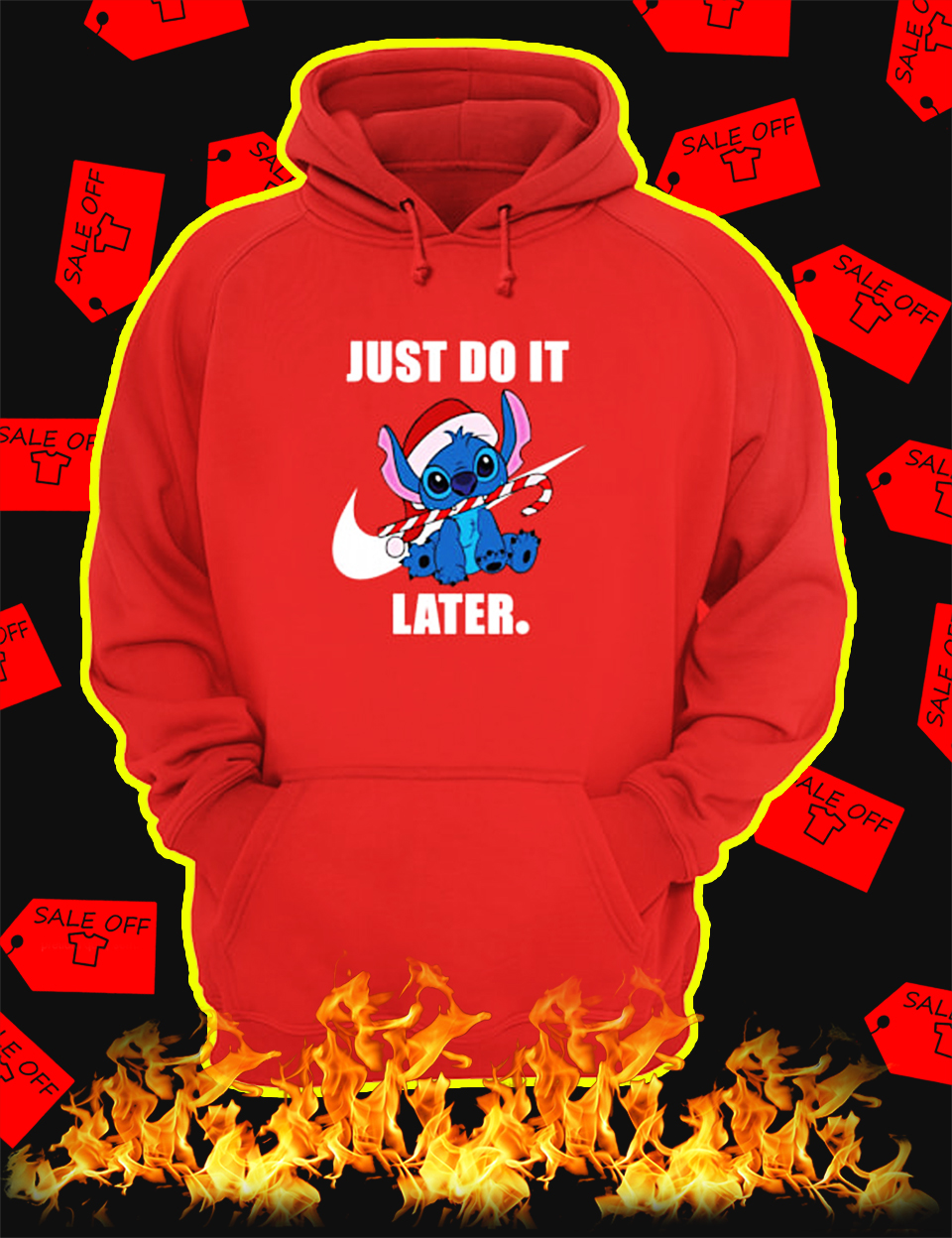 Stitch Just Do It Later Christmas Hoodie