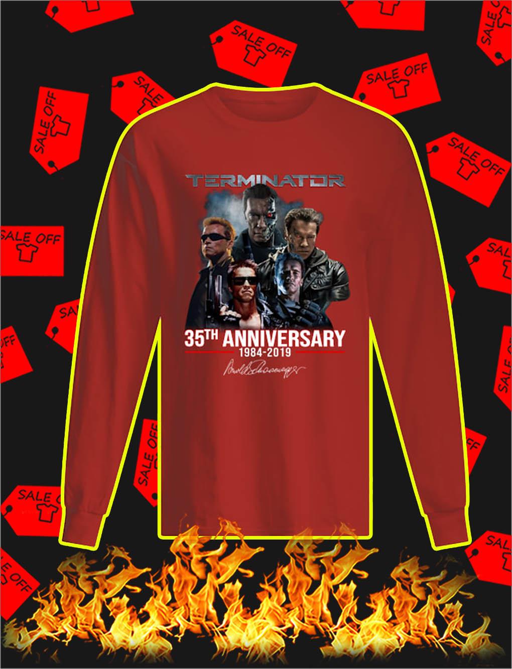 Terminator 35th Anniversary 1984 2019 longsleeve tee