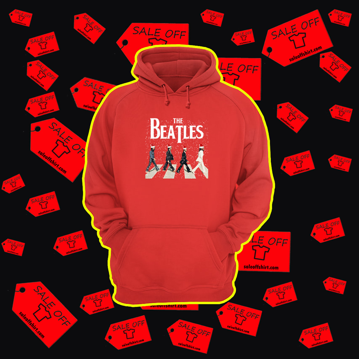 The Beatles Abbey Road Chrismtas hoodie
