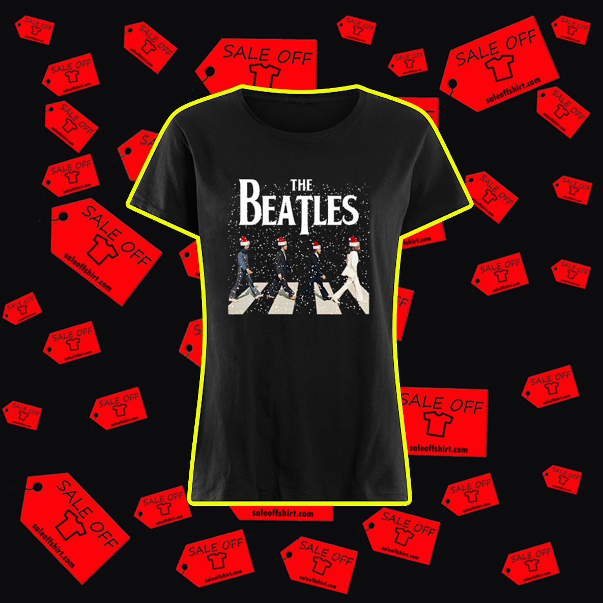 The Beatles Abbey Road Chrismtas shirt