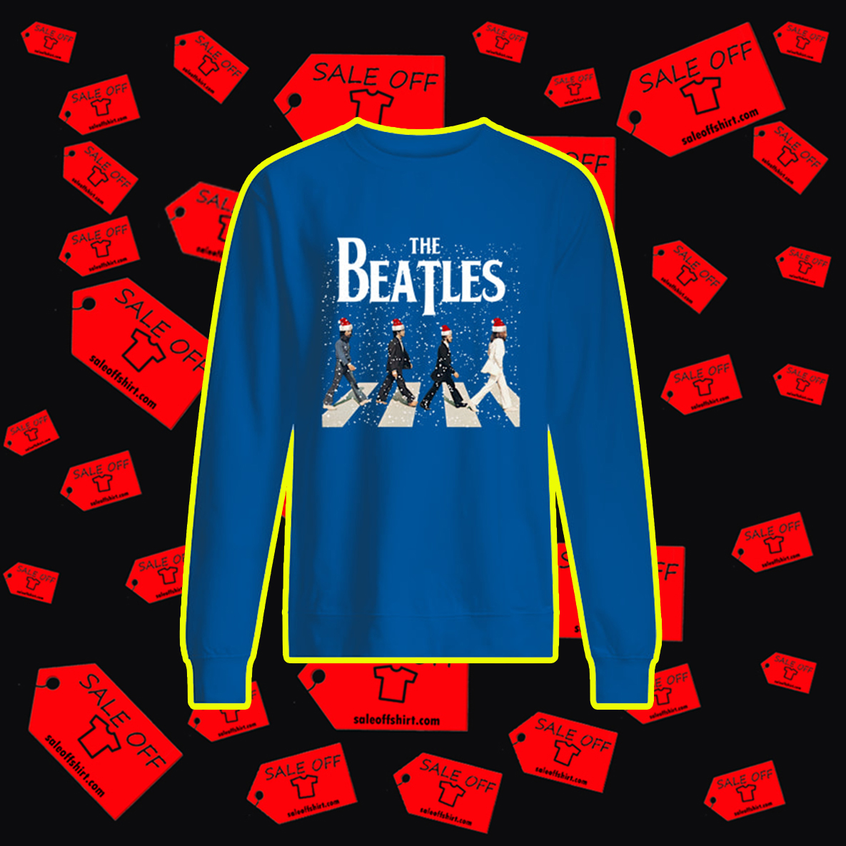 The Beatles Abbey Road Chrismtas sweatshirt